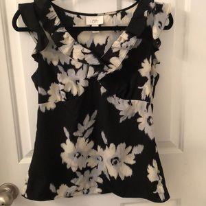 🌺3 for $20 Loft floral career cap sleeve V-neck